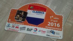 KIngsday Classics Krimpenerwaard Rallybord 2016